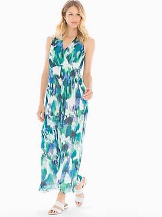 Soma Maggy London Watercolor Maxi Dress Gem Green/Jewel Blue, Size XXL