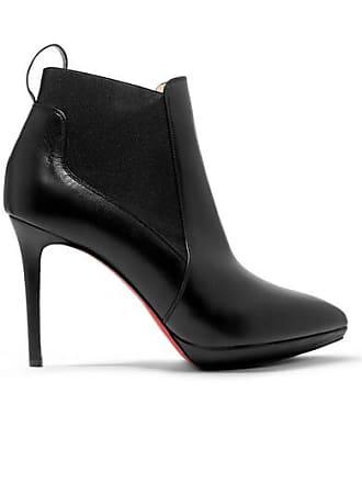 e75297de16b Christian Louboutin Crochinetta 100 Leather Ankle Boots - Black