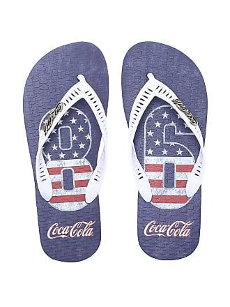 Coca Cola Ware Chinelo Coca Cola Shoes 86 Azul/Branco