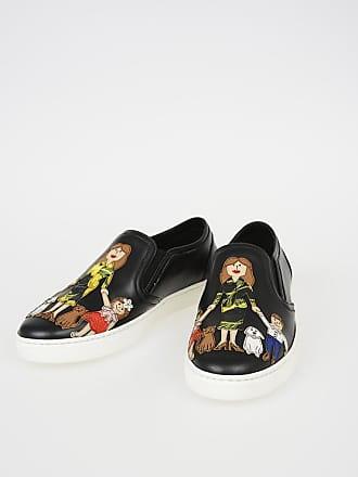ec217da9e0b Dolce   Gabbana Leather LONDON Slip Ons with FAMILY Patch size ...