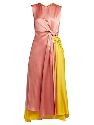 f60e13ac7740 Roksanda Ilincic Nyimi Knotted Silk Satin Midi Dress - Womens - Multi