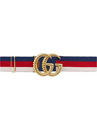Gucci Ceinture bande Web élastique avec boucle Double G façon dentelle au  fuseau - Rouge 4a5cef205af