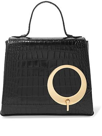 Trademark Harriet Small Croc-effect Leather Tote - Black