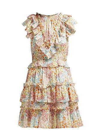eb546ecc02 Rebecca Taylor Ava Ruffled Floral Print Silk Blend Dress - Womens - Multi