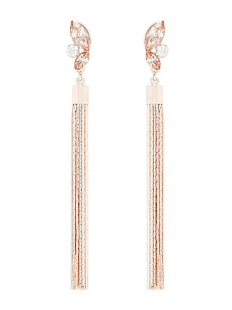 Forever New Nia Marquis Stone and Tassel Earrings - Blush & Rose - 00