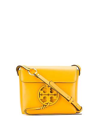 Tory Burch logo plaque shoulder bag - Amarelo
