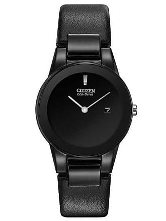 Zales Ladies Citizen Eco-Drive Axiom Black IP Strap Watch with Black Dial (Model: Ga1055-06E)
