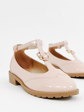 39fb343e8552 Asos Wide Fit Maxy double ring flat shoes - Beige