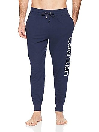 a118d55c0e68bc Calvin Klein Mens Logo Lounge Jogger, Blue Shadow, Large