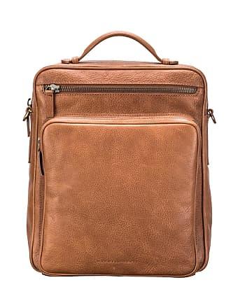 Maxwell Scott Maxwell Scott - Luxury Large Camel Leather Convertible Backpack Crossbody Bag