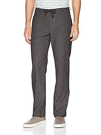 Perry Ellis Mens Linen Cotton Drawstring Pant, Slate, 40X32