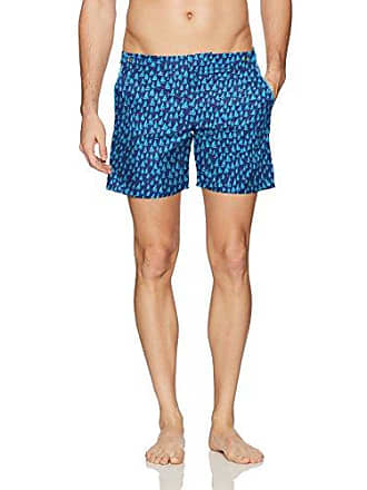 c7f3d46618 Parke & Ronen Mens Catalonia Print 6 Inch Swim Short, Spinnaker Turquoise,  ...
