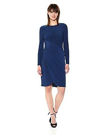 3b43e238b283 Adrianna Papell Womens Matte Jersey Draped Wrap Skirt, Navy Blue, 12