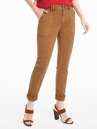 White House Black Market Womens Straight Crop Jeans by White House Black Market, Sandalwood, Size 14 - Regular