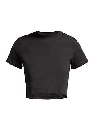 Hanes x Karla Hanes X Karla - The Baby Cotton Cropped T Shirt - Womens - Black