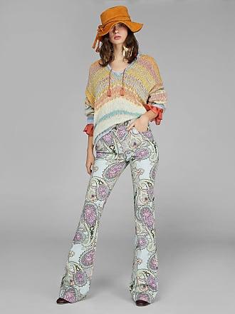 Etro Ausgestellte Jeans Mit Paisley-print, Damen, Hellblau, Größe 26
