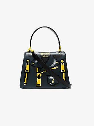Moschino Black Pixelated jacket print shoulder bag