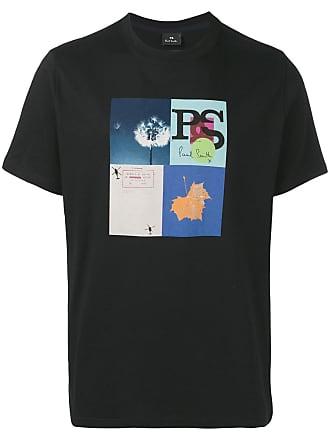 Paul Smith Camiseta com estampa Leaf Collage - Preto