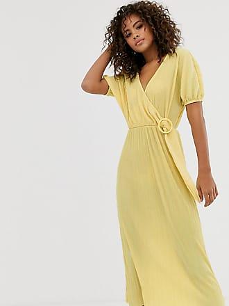 0ae116cfa6c4e Asos Tall Exclusivité ASOS DESIGN Tall - - Robe mi-longue plissée avec  boucle en
