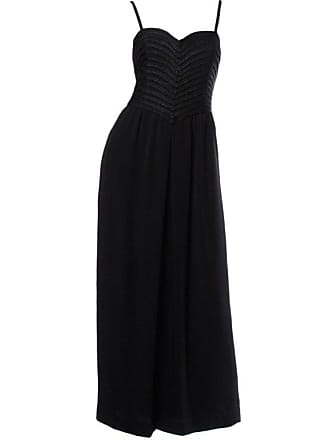 4dc8cbb1d00 Krizia Vintage Braided Silk Bodice Black Formal Maxi Dress