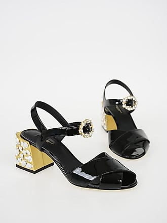 Dolce & Gabbana 7 Cm Patent Leather KEIRA Sandals with Jewel Heel size 37