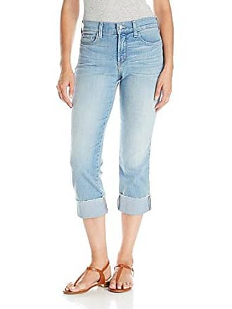 NYDJ Womens Dayla Wide Cuff Capri Jeans with Selvedge Trim, Manhattan Beach, 14