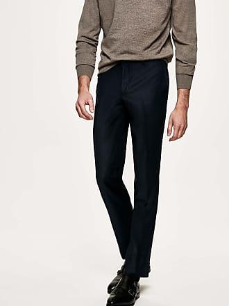 Hackett Mens Birdseye Wool Trousers | Size 32 | Navy