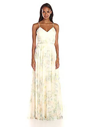 426ebe81be6 Jenny Yoo Womens Inesse Thin Strap V Neck Long Chiffon Gown