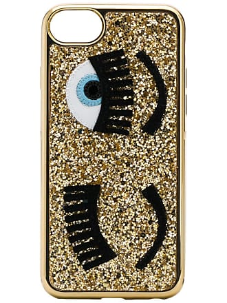 Chiara Ferragni Capa para iPhone S6/7/8 com glitter - Amarelo
