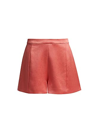 Alexis Chance Satin Mini Shorts Red