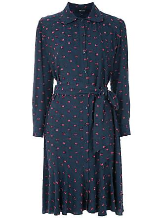 Fillity Vestido texturizado com amarração - Azul