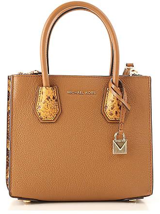 c2896673e Michael Kors Top Handle Handbag On Sale, Acorn, Leather, 2017, one size