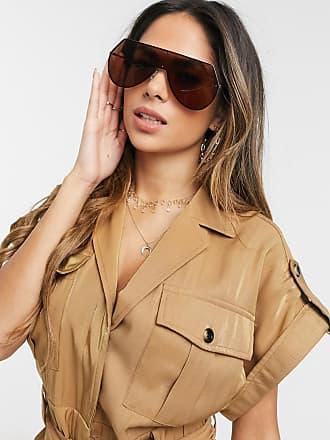 7X Visor Sunglasses Mirror Lens-Silver