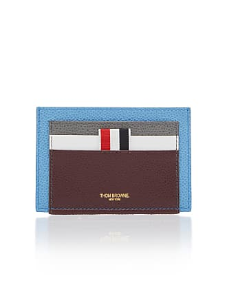 Thom Browne Double-Sided Color Block Leather Card Case