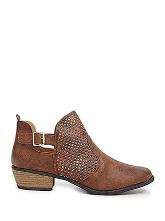 Forever 21 Forever 21 Faux Leather Cutout Booties Tan