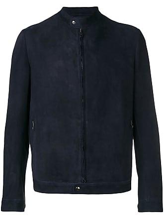 Salvatore Santoro zipped up suede jacket - Azul
