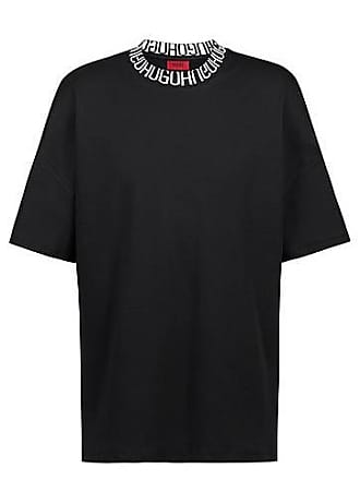 a14ed34a8e21c4 HUGO BOSS Oversized T-Shirt mit Reversed-Logo am Ausschnitt