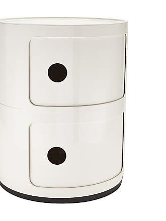 Kartell Componibili 2 Container - weiß/glänzend/H 40cm/ Ø 32cm