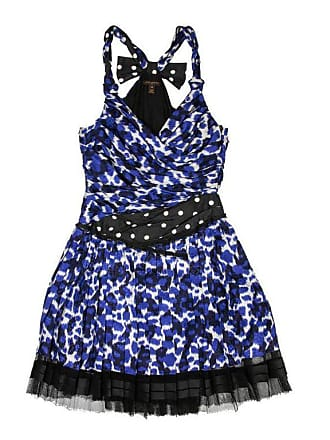 8638f6a6299e Louis Vuitton Pleated Dress In White And Blue Printed Silk Size 38 Fr