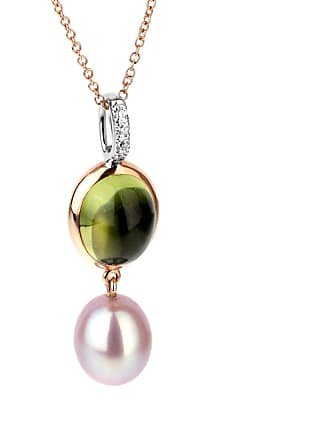 MIMI MILANO Peridot Pearl Diamond Necklace
