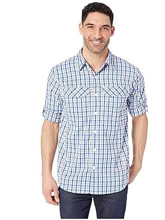 953211b72a3 Columbia Silver Ridge Lite Plaid Long Sleeve Shirt (Azul Gingham) Mens Long Sleeve  Button