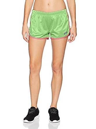 Soffe Womens Juniors Retro Birds Eye Mesh Short, Summer Green/neon Pink, Medium