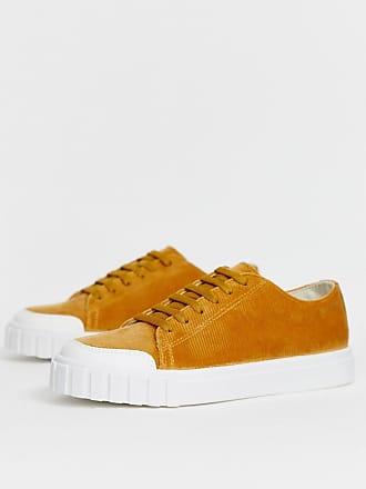 6d7155899ee6ec Asos Dismiss - Sneaker aus hellbraunem Cord - Bronze