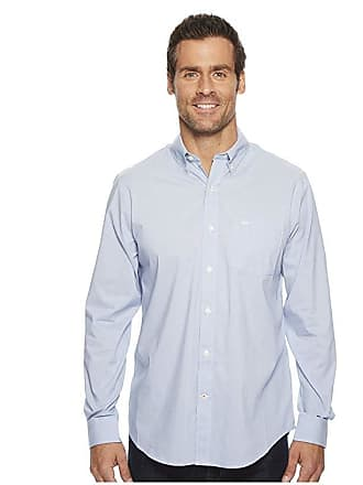 Dockers Long Sleeve Stretch Woven Shirt (Delft Blue) Mens Clothing