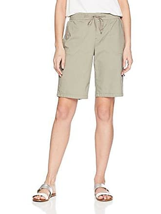 Tribal Womens Pull On Roll Up Short, Stone, XL