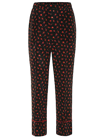N°21 Printed silk high-rise pants