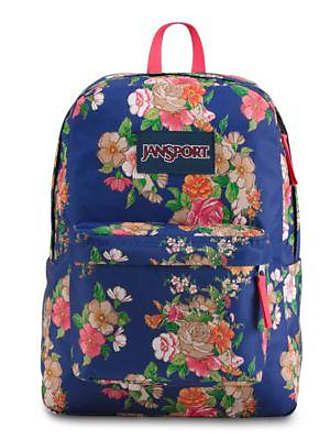 Jansport Superbreak Backpacks - Paper Floral