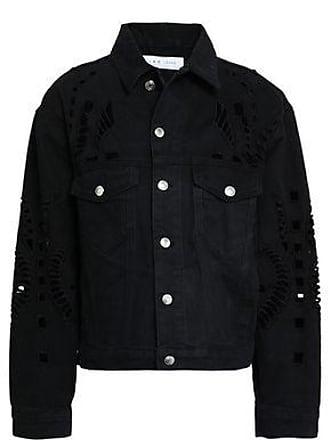 Iro Iro Woman Dinard Broderie Anglaise Denim Jacket Black Size 36