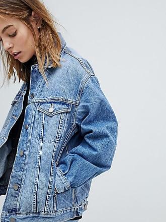 b2ddb4bb5267 Asos Petite ASOS DESIGN Petite - Veste en jean coupe girlfriend - Bleu  délavé ...