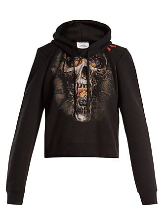 VETEMENTS Misplaced Shoulder Skull Print Sweatshirt - Womens - Black Print
